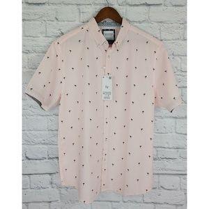 Denim & Flower NWT Button Down Flamingo Shirt